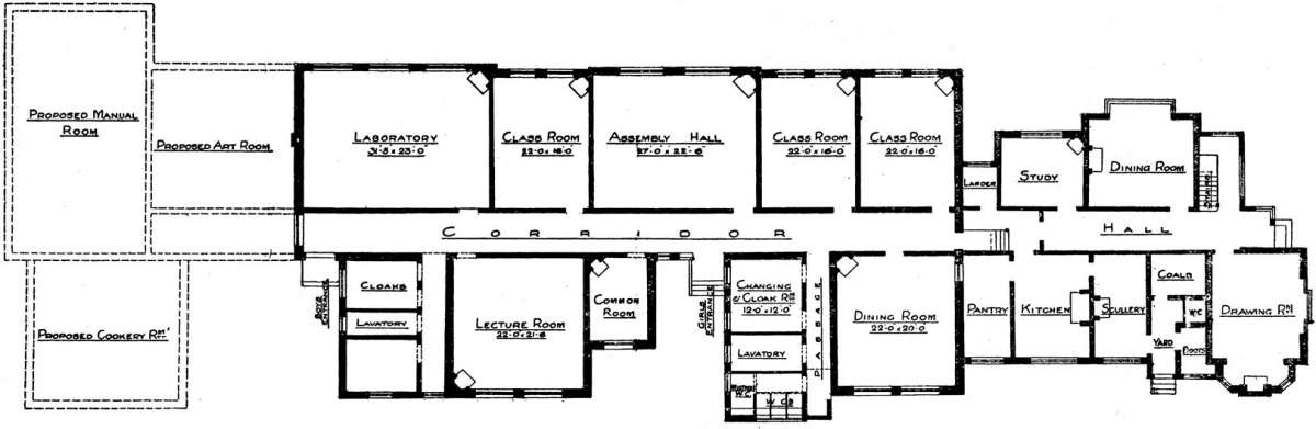 Plans of the original building